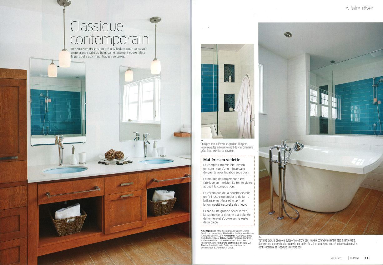 je decore salle de bain habitations boivin about us press book 2010 2011